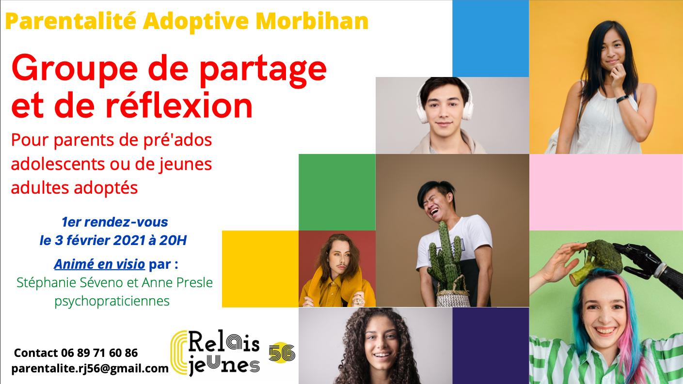 Je suis heureuse de vous annoncer que Relais Jeunes 56 accueille notre projet d'accompagnement de la parentalité adoptive!